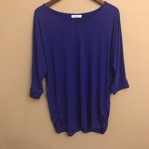 Esenchel Blue Top with Ruched sides